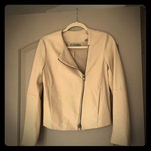 BNWOT Vince asymmetrical Leather Jacket-Size Small